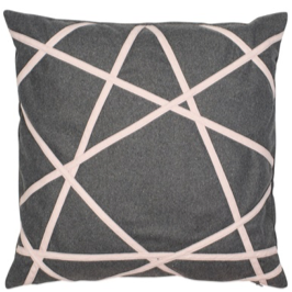 grey felt abstract cushion