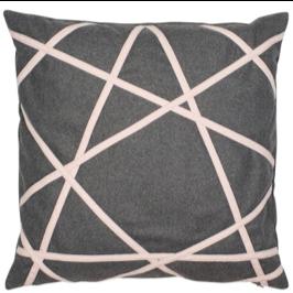 grey felt abstract cushion